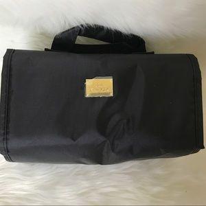 Joy Mangano Black Roll Up Beauty Case Small NWOT